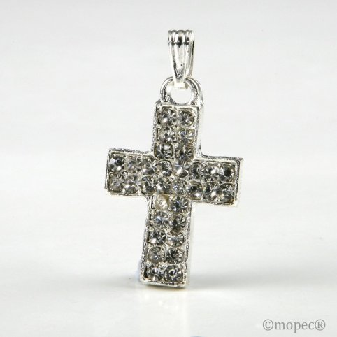 Colgante cruz strass sin cinta