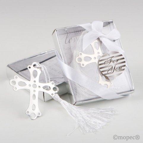 Dot book cross in gift box 7.5x9x2 cm