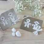 Sottobicchieri in metallo sagoma con carta decorata