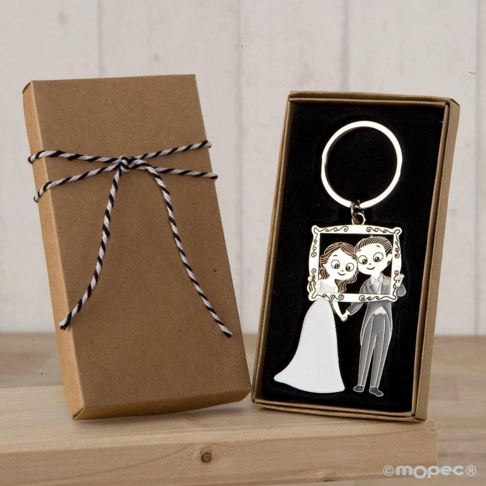 Pop & Fun Fototermin Hochzeitspaar Schlüsselbund in dekorierten Geschenkbox