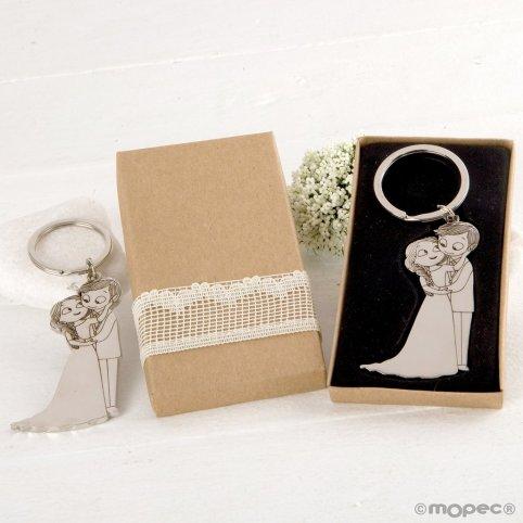 Portachiavi Pop & Fun carezza in scatola decorata