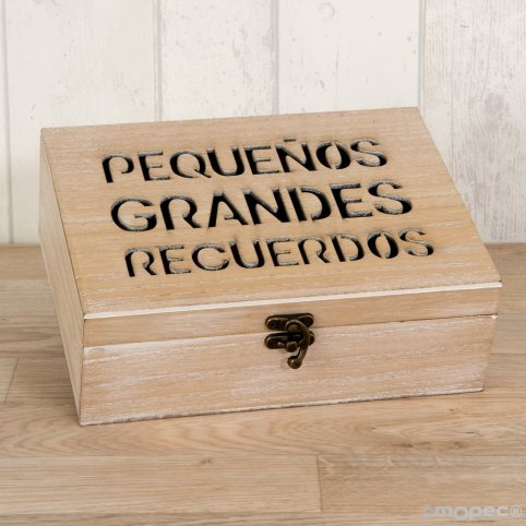 Wooden chest message to remember 23x17cm