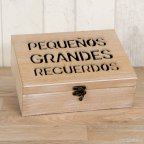 Cofre madera mensaje para recordar 23x17cm