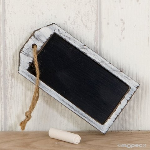 Rectangular slate(10x5cm.) with twine, chalk included