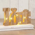 Decoración madera Love con luces led 21x13cm