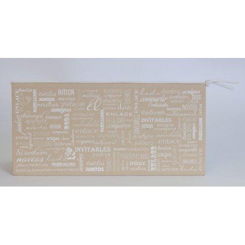 Invitación de boda cuadernillo marrón, Edima 100.716