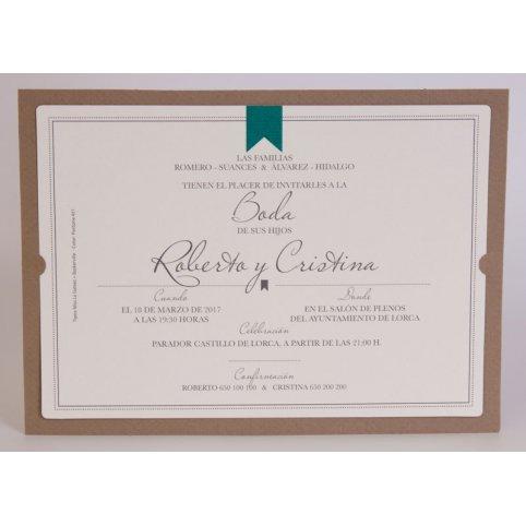 100,704 Edima Diploma Wedding Invitation