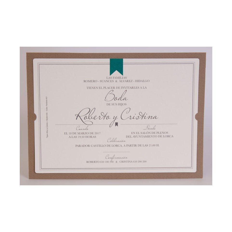Invitación de boda diploma Edima 100.704