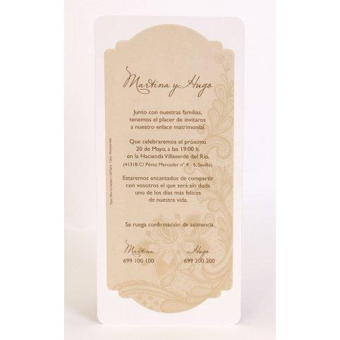Invitación de boda ornamental Edima 100.722