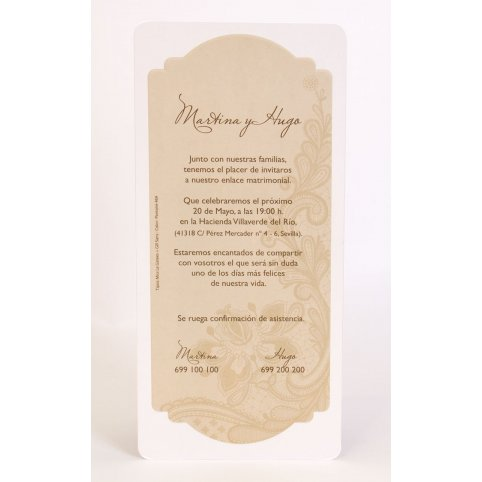 100,722 ornamental wedding invitation Edima 100,722