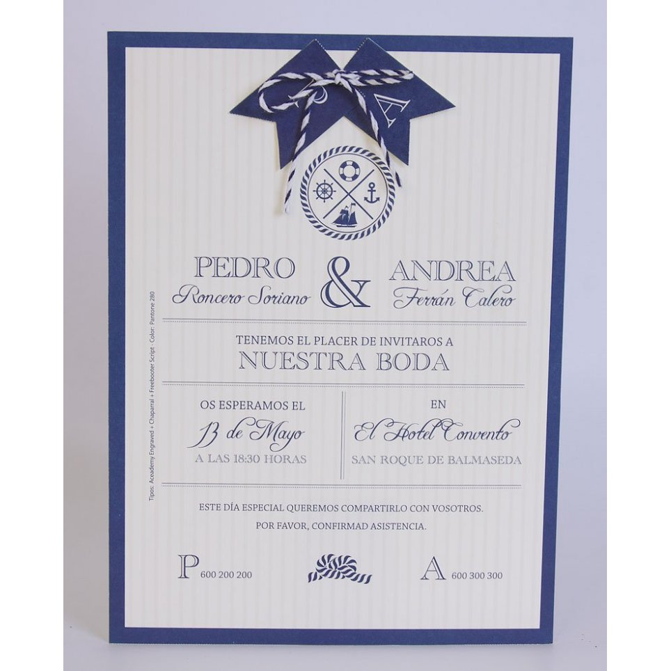 Marine Wedding Invitation Edima 100,710