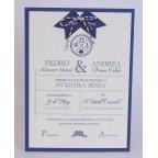 Invitación de boda marine Edima 100.710
