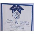 Invitación de boda marine Edima 100.710 detalle