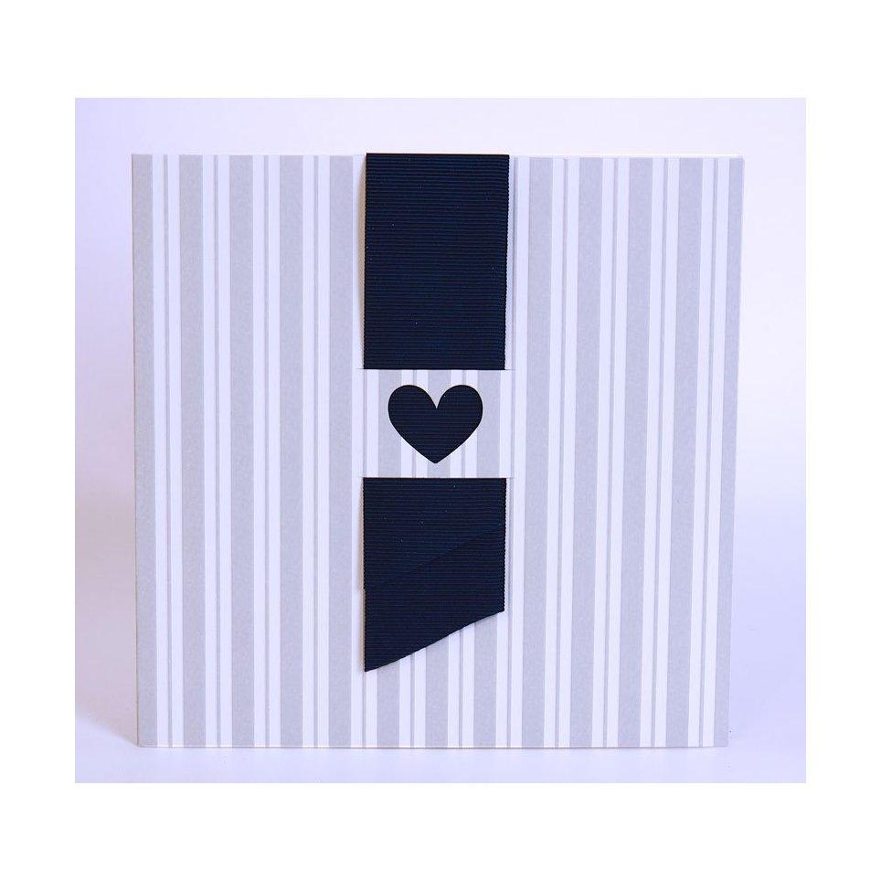 Invitación de boda corazón tela Edima 100.723