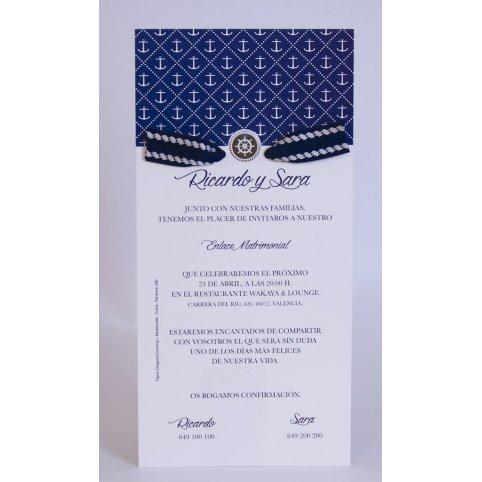 Invitación de boda ancla Edima 100.725