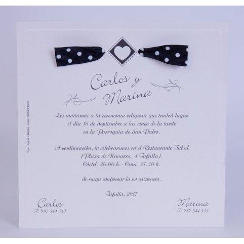 Invitación de boda corazón rombo Edima 100.716