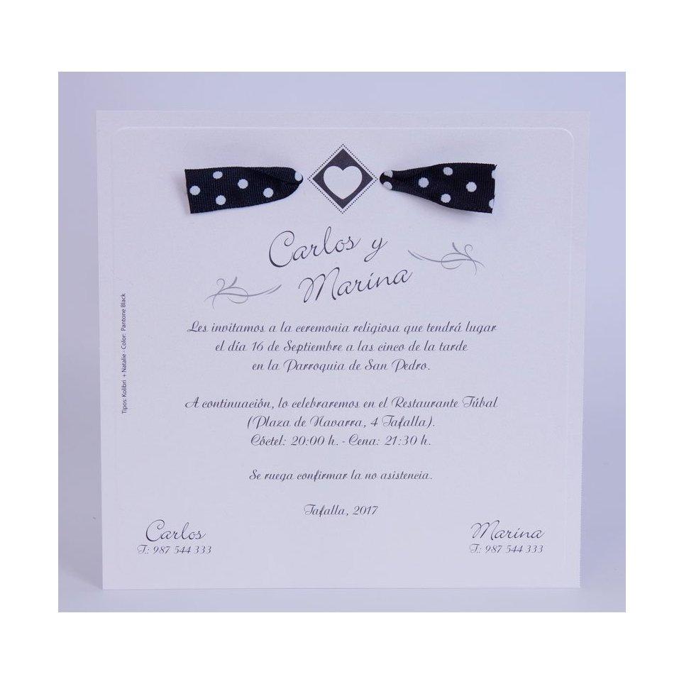 Invito a nozze cuore rombo Edima 100.716