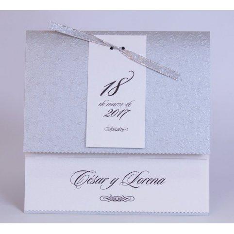 Invitación de boda fecha plata Edima 100.729