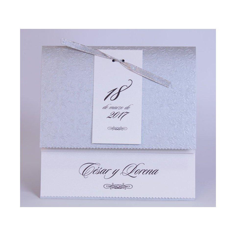 Silver Date Wedding Invitation Edima 100,729