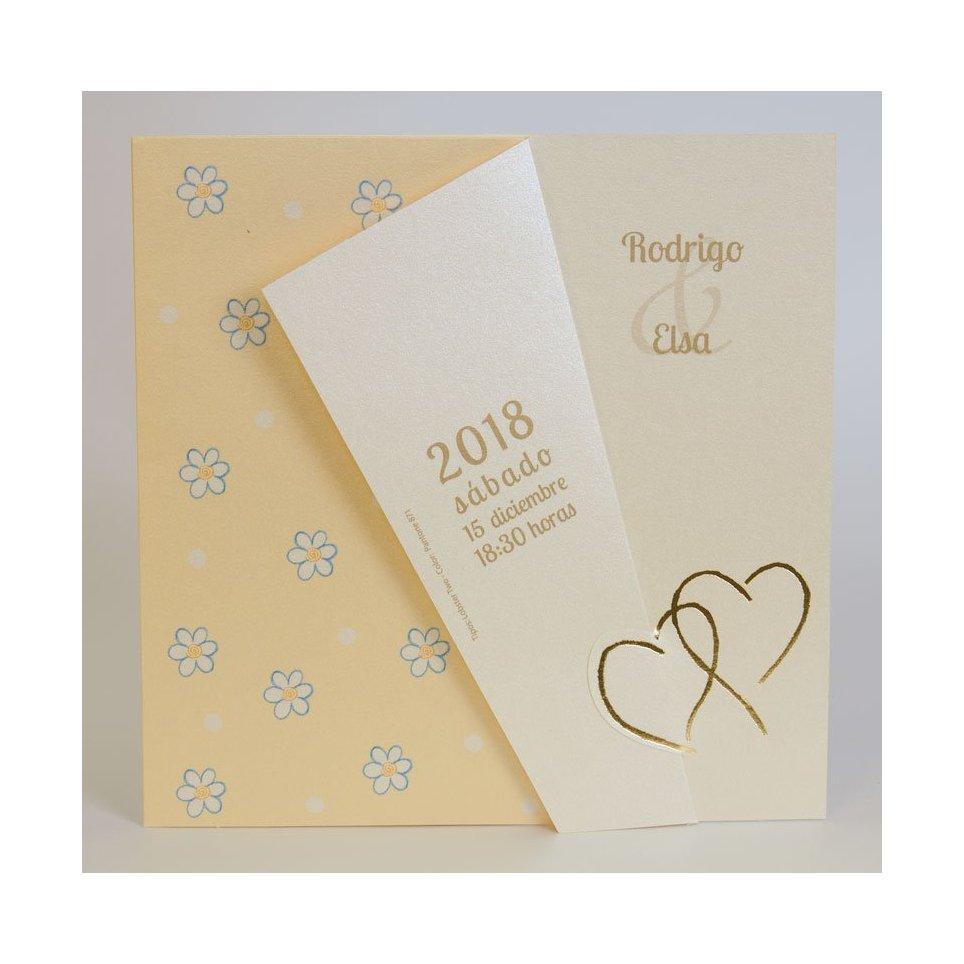 Edima Gold Herz Hochzeitseinladung 100.329