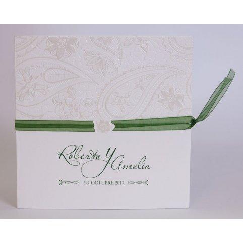 Green Bow Wedding Invitation Edima 100,713