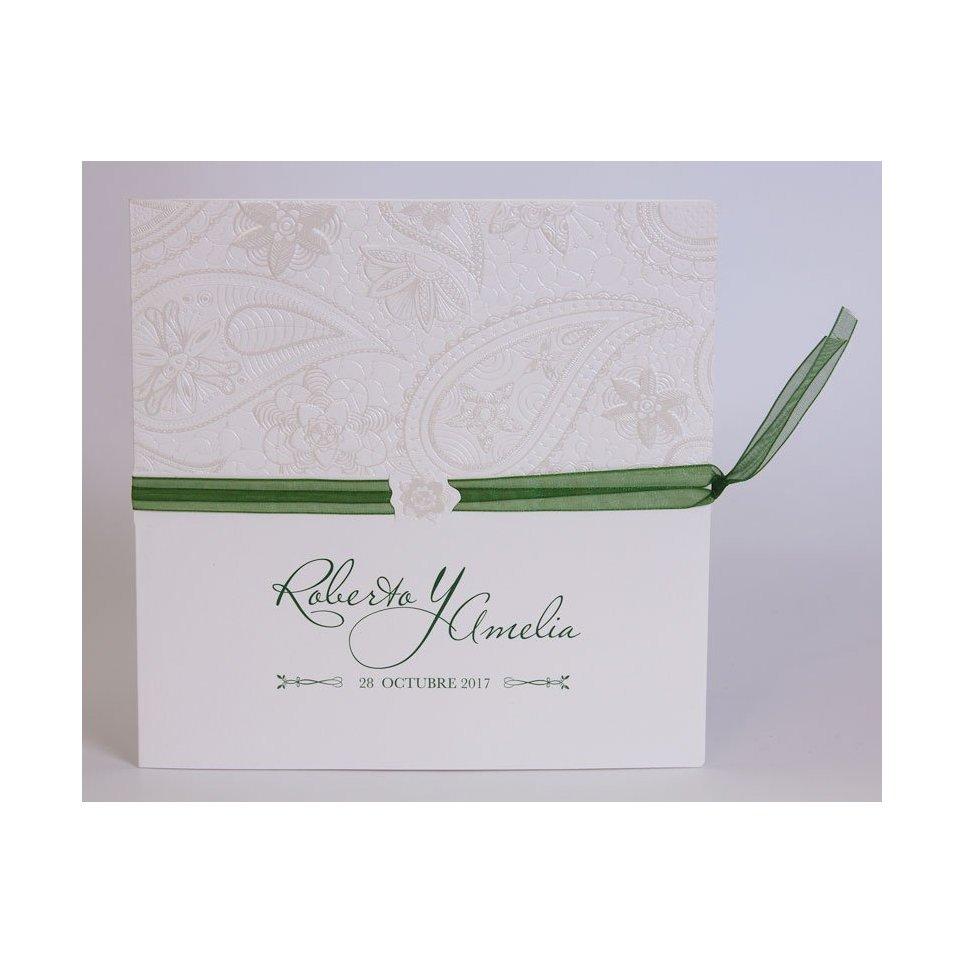 Partecipazione matrimonio fiocco verde Edima 100.713