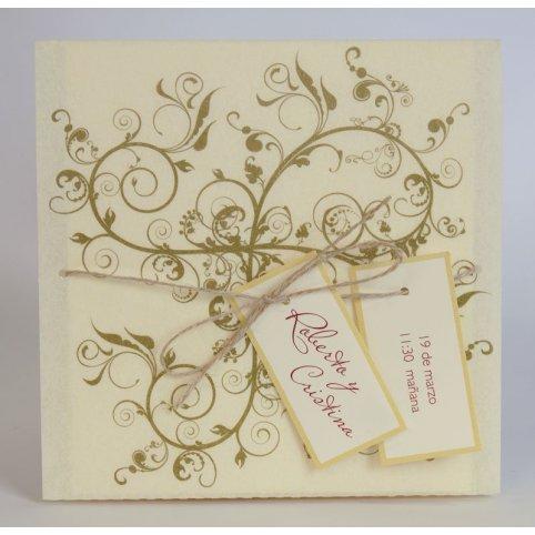 Invitación de boda pergaminata Edima 100.476