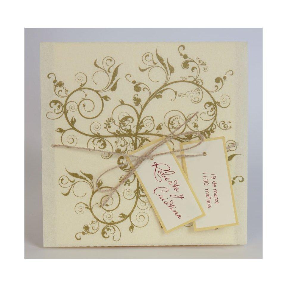 Pergaminata Wedding Invitation Edima 100,476