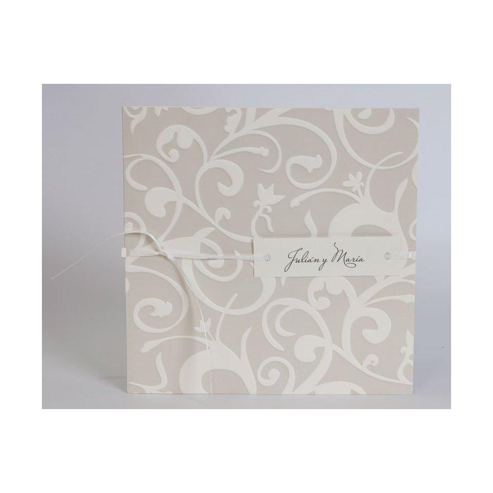 Invitación de boda etiqueta colgante Edima 100.531