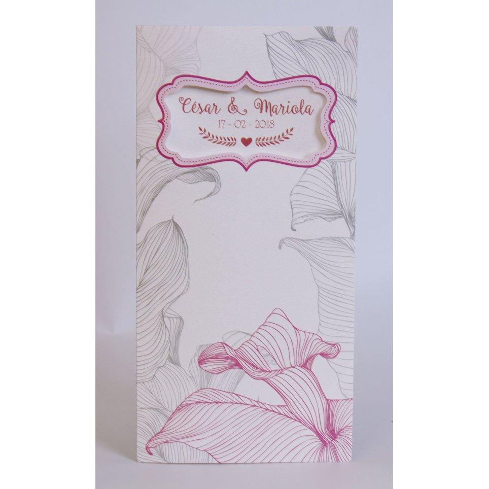 Edima Pink Frame Hochzeitseinladung 100.735