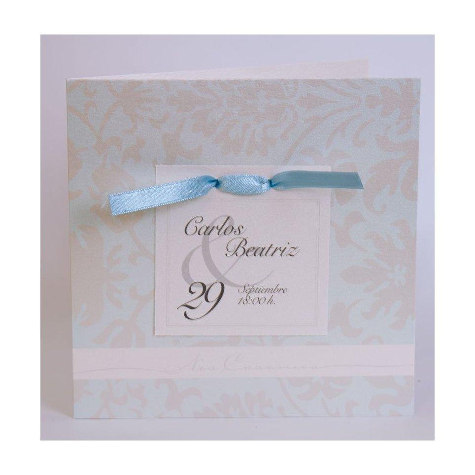 Invitación de boda lazo y tarjeta Edima 100.541