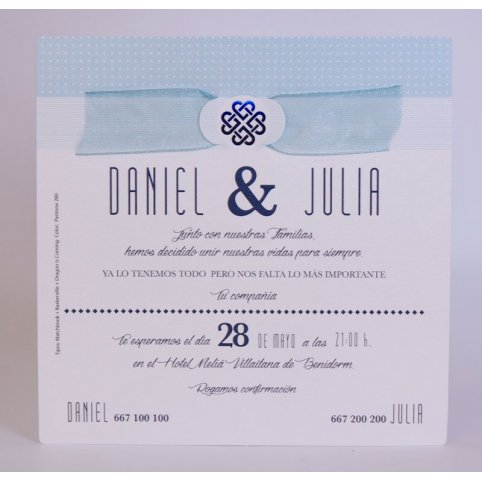 Blue Symbol Wedding Invitation Edima 100,721