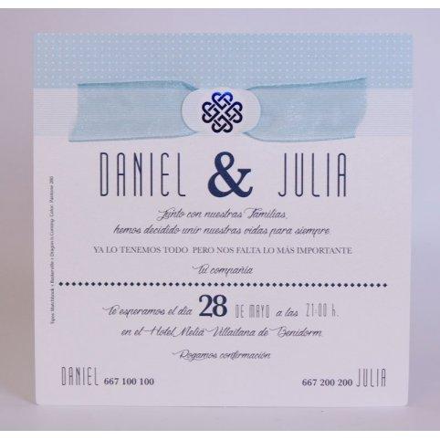 Invito a nozze simbolo blu Edima 100.721