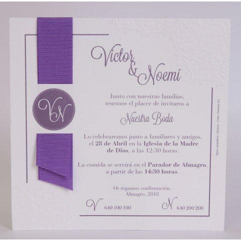 Invitación de boda vitola Edima 100.707