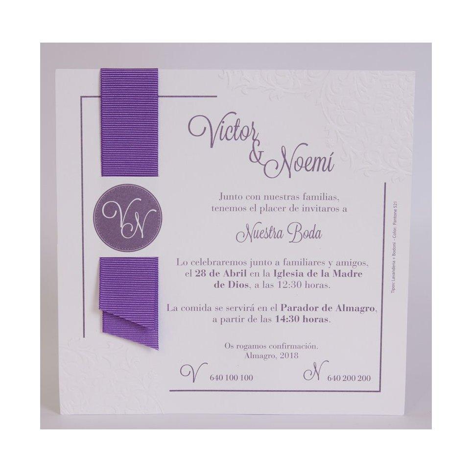 Wedding Invitation vitola Edima 100,707