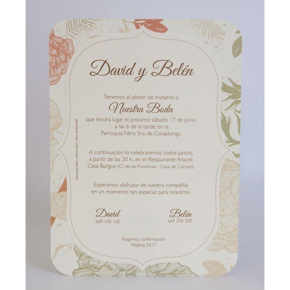Invitación de boda edén Edima 100.703