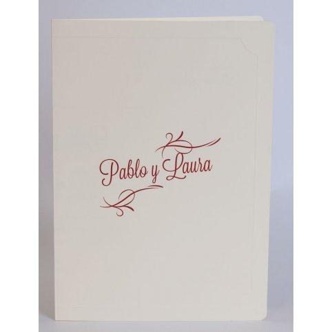 Cream Book Wedding Invitation Edima 100,551