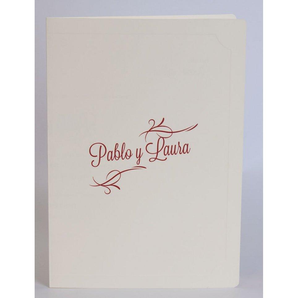 Invitación de boda libro crema Edima 100.551