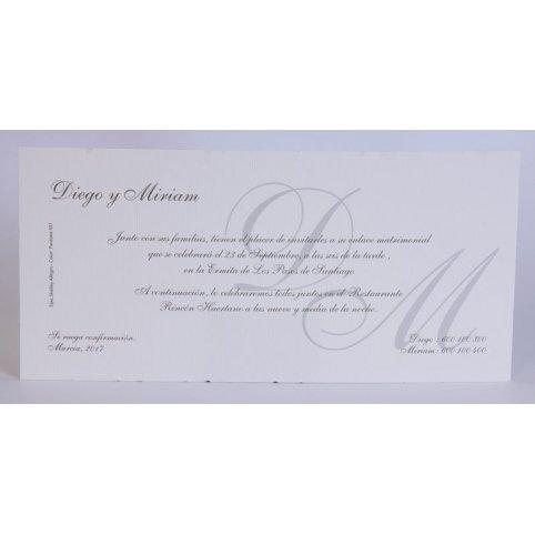 Klassische weiße Hochzeitseinladung Edima 100.054