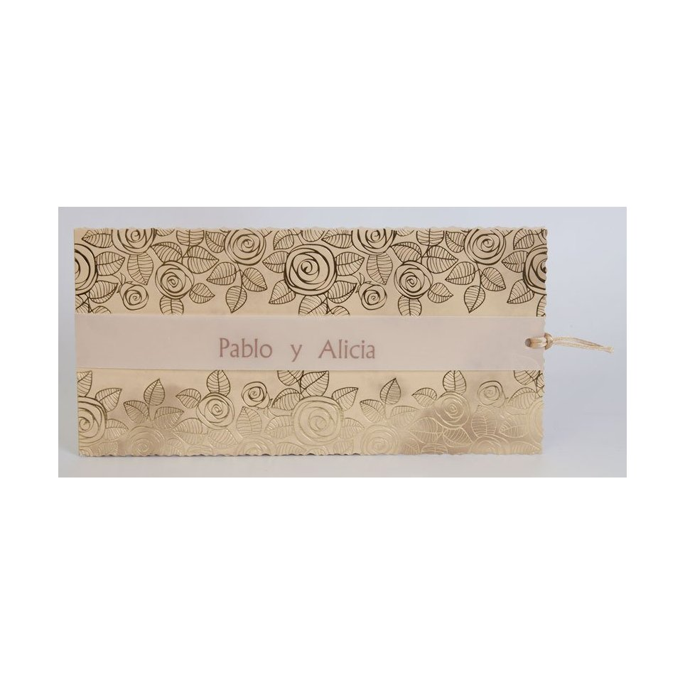 Invito a nozze con fiori d'oro Edima 100.734