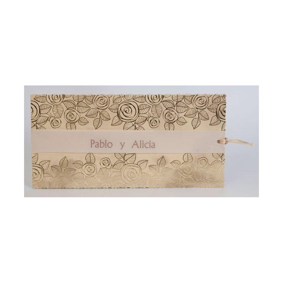Golden Flowers Wedding Invitation Edima 100,734