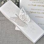 Invitación de boda mariposa Cardnovel 39338 exterior