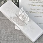 Schmetterling Cardnovel 39338 Hochzeitseinladung im Freien