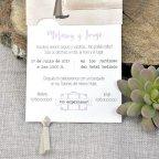 Hochzeitseinladungskoffer Braut und Bräutigam Cardnovel 39324 Text