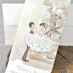 Hochzeitseinladungskoffer Braut und Bräutigam Cardnovel 39324 Detail
