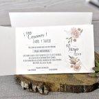 Flower Wedding Invitation Date Edima 39331 Inside