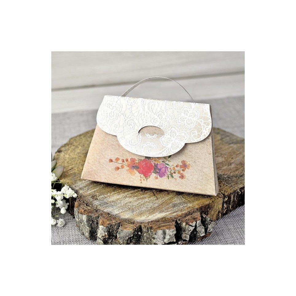 Invitación boda maletín flores Cardnovel 39314