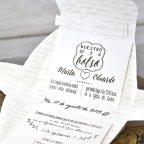 Hochzeitseinladung Aktentasche Blumen Cardnovel 39314 Text