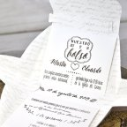 Valigetta per invito a nozze fiori Cardnovel 39314 testo