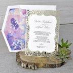Invitación de boda troquel dorado, Cardnovel 39341